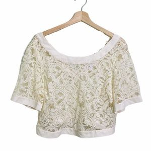 BCBG Generation lace sheer crop top